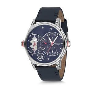 Pánske hodinky s čiernym koženým remienkom Bigotti Milano Casper