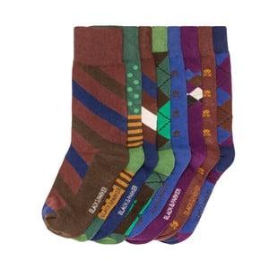Sada 8 párov vysokých unisex ponožiek Black&Parker London Slater, veľkosť 37/43