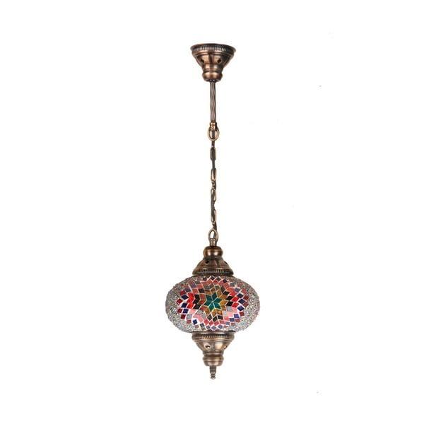 Sklenená ručne vyrobená závesná lampa Lily, ⌀ 17 cm