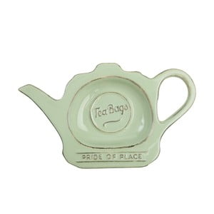 Zelený porcelánový tanierik na čajové vrecúška T&G Woodware Pride of Place
