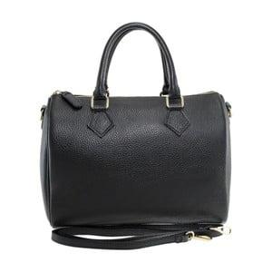 Čierna kožená kabelka Chicca Borse Rossi