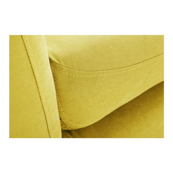Žltá trojmiestna pohovka Scandi by Stella Cadente Maison Comete