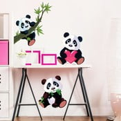 Sada 3 nástenných detských samolepiek Ambiance Panda