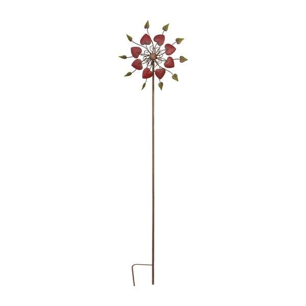 Zapichovací veterník na zahradu Flower, 146 cm