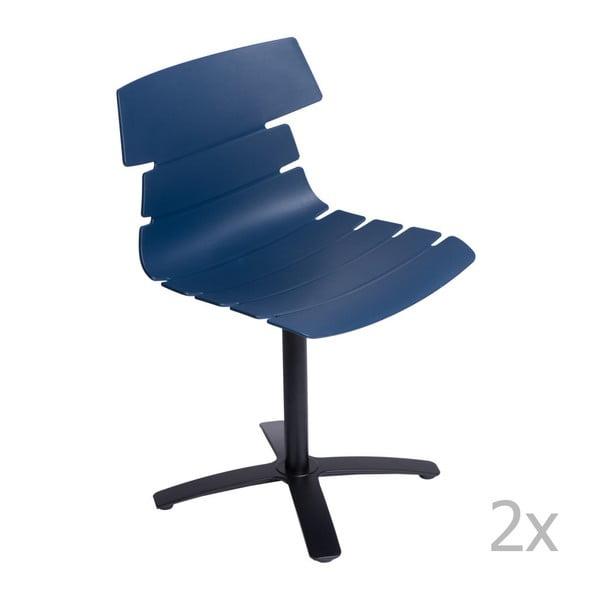 Sada 2 stoličiek D2 Techno One, modré