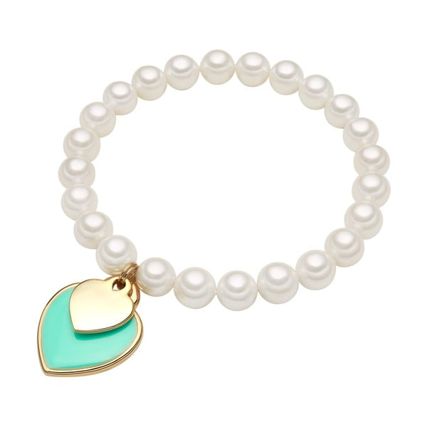 Náramok s bielou perlou ⌀8 mm Perldesse Are, dĺžka19cm