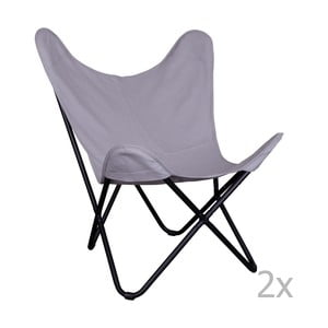 Sada 2 sivých stoličiek House Nordic Como