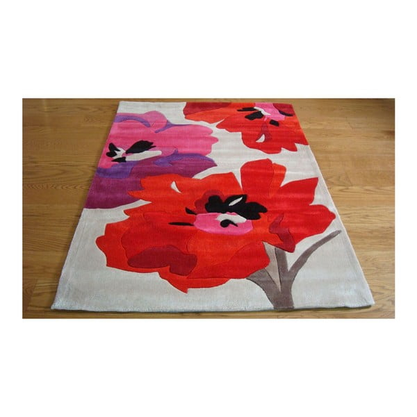 Koberec Bloom Red, 160x220 cm
