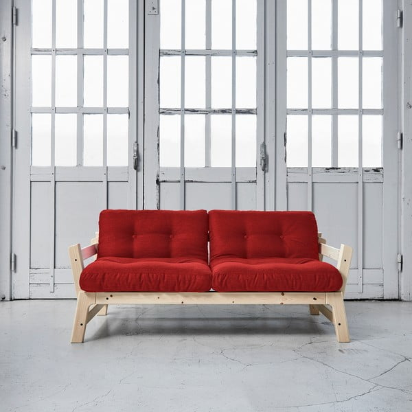 Rozkladacia pohovka Karup Step Natural/Passion Red