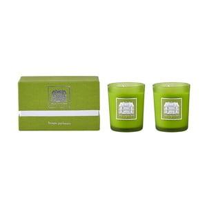 Sada 2 sviečok s vôňou zeleného čaju a uhorky Villa Collection