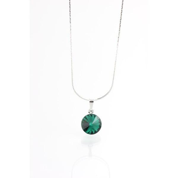 Zelený náhrdelník so Swarovski krištáľmi Yasmine Longie