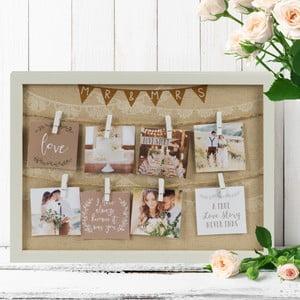 Rámik so štipčekmi na fotografie Celebrations Love Story