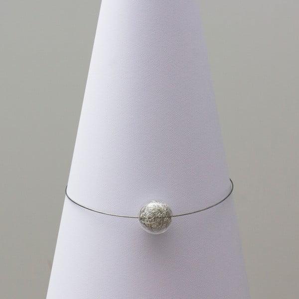 Sklenený náhrdelník ko-ra-le Wired, strieborný