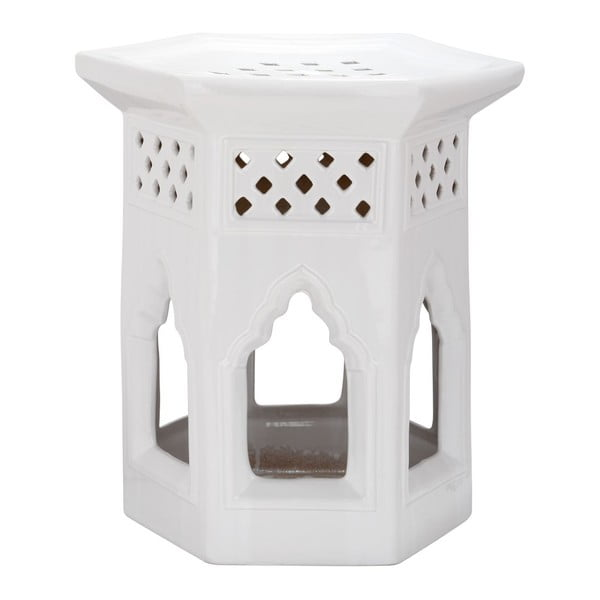 Stolík Moroccan White