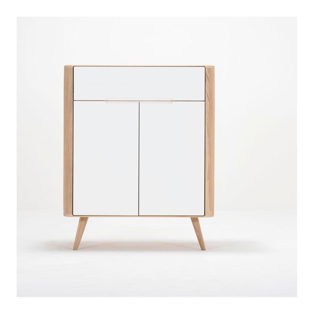 Komoda z dubového dreva Gazzda Ena One, 90 × 42 × 110 cm