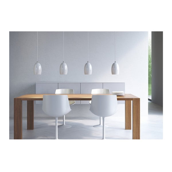 Svetlo UME, silver opal/white
