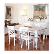 Biely drevený rozkladací jedálenský stôl Castagnetti Adeline