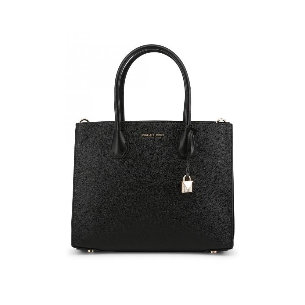 Čierna kožená kabelka Michael Kors Violeta