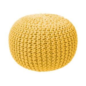 Horčicovo-žltý sediaci puf loomi.design