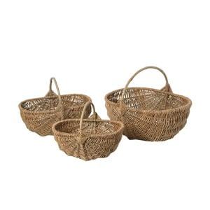 Sada 3 prútených košíkov Antic Line Willow