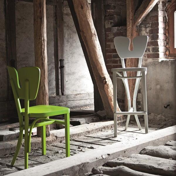 Sivá barová drevená stolička Fameg Gitte