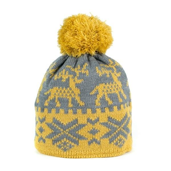 Žltá čiapka s jeleňmi Cecile