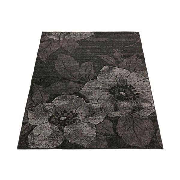 Koberec Intarsio Dark Flower, 160x230cm