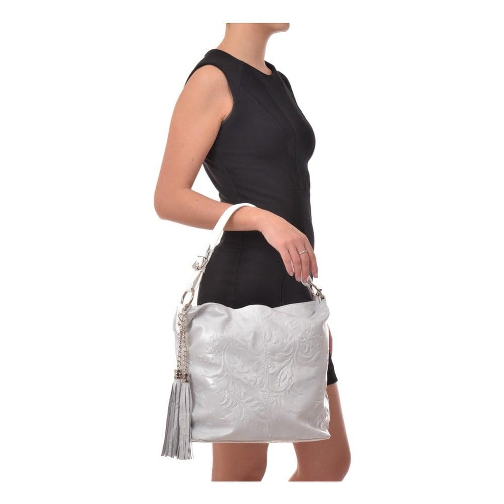 a94f874a59 Biela kožená kabelka so strapcami Isabella Rhea ...