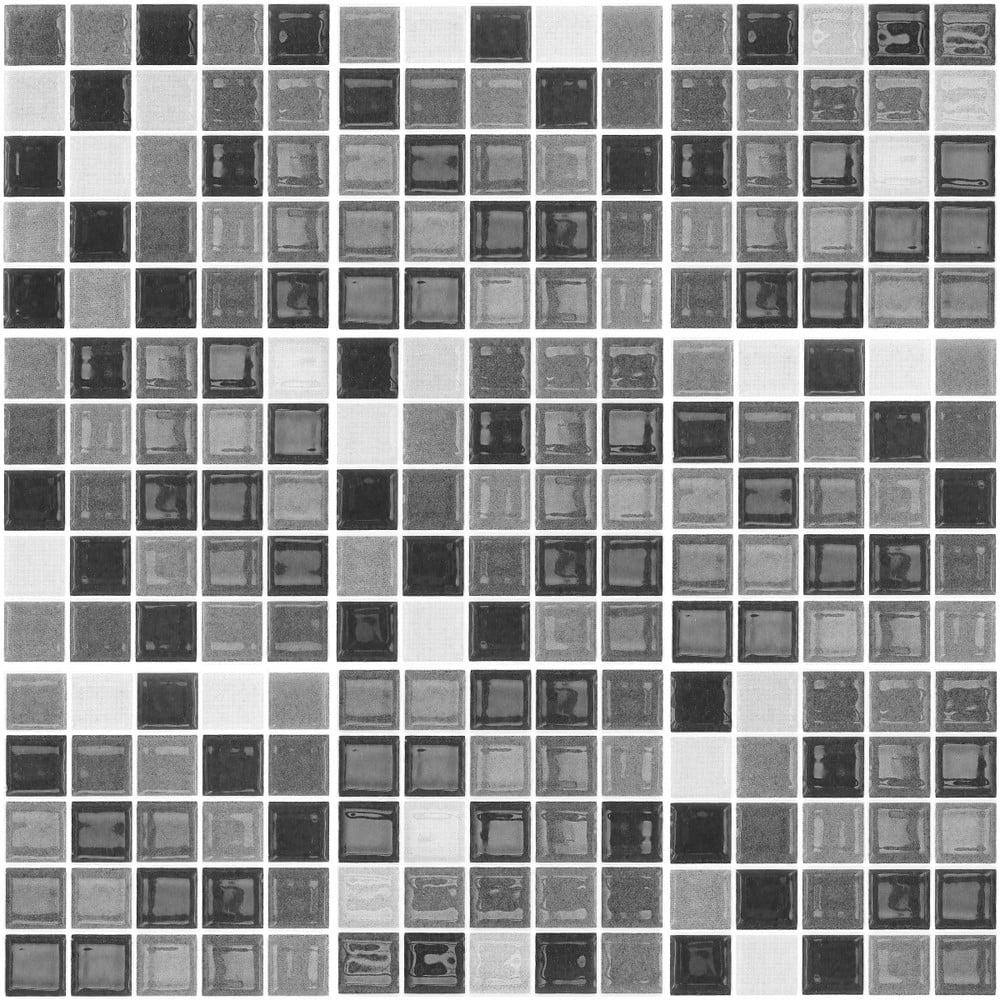 Sada 9 dekoratívnych samolepiek na stenu Ambiance Shade of Grey, 20 × 20 cm