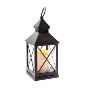 Tmavohnedá LED lampáš Dakls Iris, výška 23,5 cm