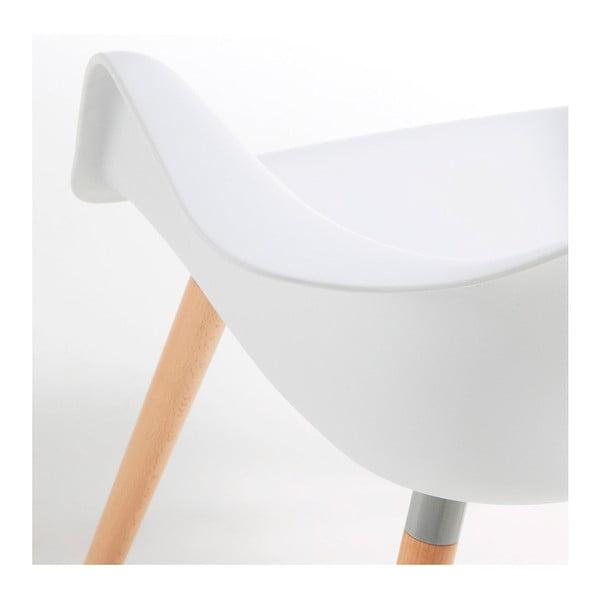 Sada 2 bielych jedálenských stoličiek La Forma Kenna