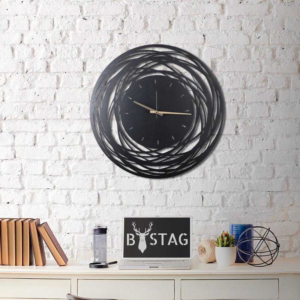 Nástenné kovové hodiny Ball, 70 × 70 cm