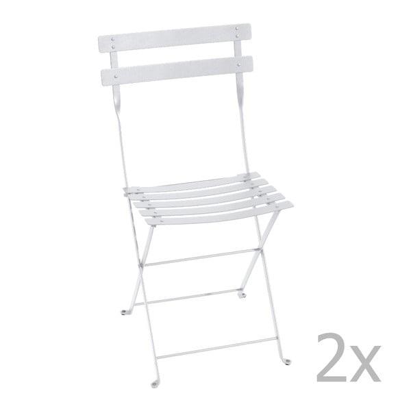 Sada 2 bielych skladacích stoličiek Fermob Bistro