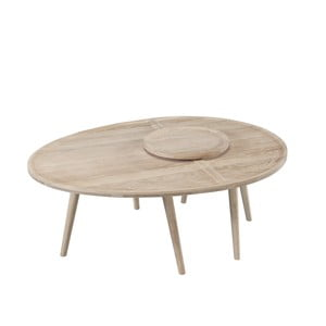 2-dielny konferenčný stolík z dubového dreva Wewood - Portugues Joinery Colombo