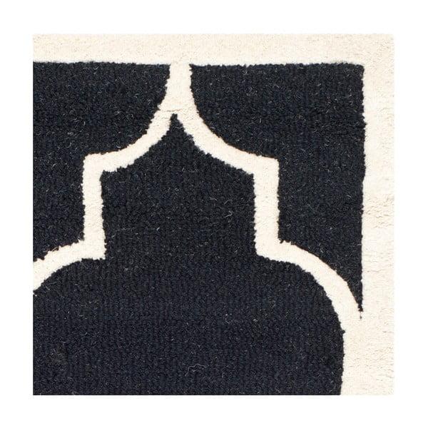 Vlnený koberec  Safavieh Everly Night, 91x152 cm