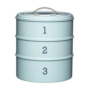 """Modrá sada troch plechových dóz Kitchen Craft """"123"""""""