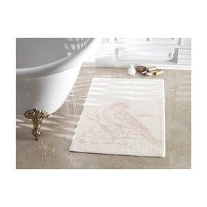 Svetlobéžová kúpeľňová predložka Confetti Bathmats Cuckoo Ecru Powder, 70 x 120 cm