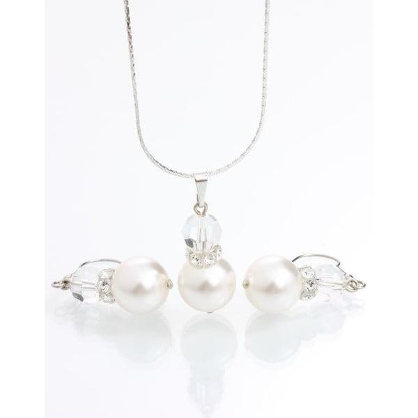 Set náhrdelníka a náušníc Yasmine Pearl Crystal