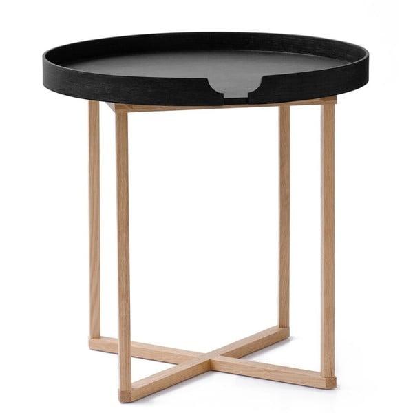 Čierny odkladací stolík Wireworks Damieh, 45x45cm