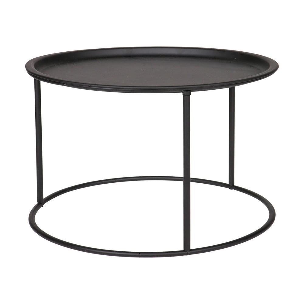 Čierny konferenčný stolík WOOOD Ivar, ⌀ 56 cm