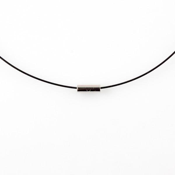 Modrý drevený náhrdelník Ko–ra–leBubbles