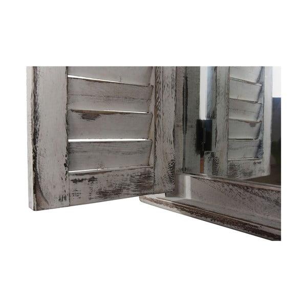 Sivé zrkadlo Mendler Shabby