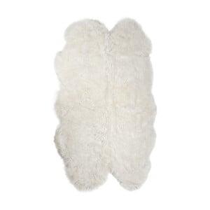 Biely kožušinový koberec z ovčej kože Arctic Fur Lago, 180 × 115 cm