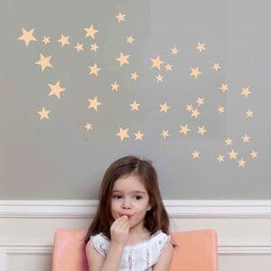 Ružové nástenné samolepky Art For Kids Stars