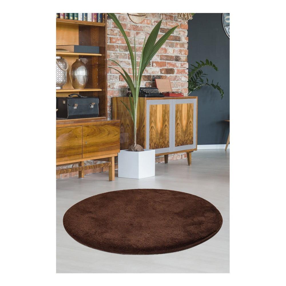 Hnedý koberec Milano, ⌀ 90 cm