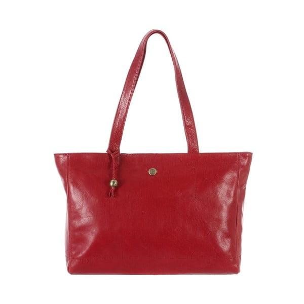 Dámska kožená taška Rita Cranberry