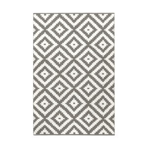 Sivý obojstranný koberec vhodný aj do exteriéru Green Decore Ava, 120 × 180 cm