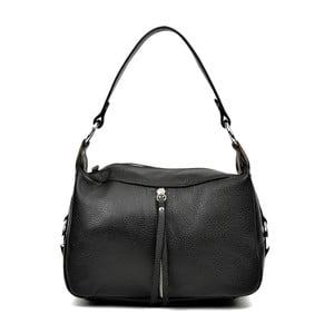 Čierna kožená kabelka Carla Ferreri Mirana
