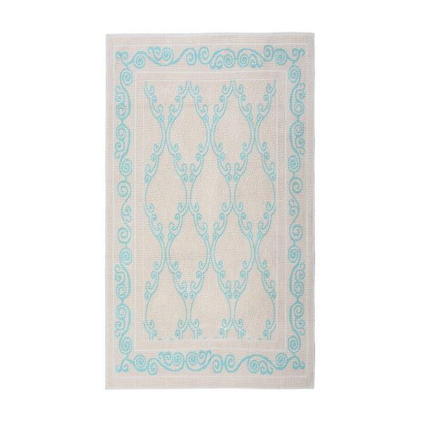 Tyrkysový bavlnený koberec Floorist Kijakazi, 100x200cm
