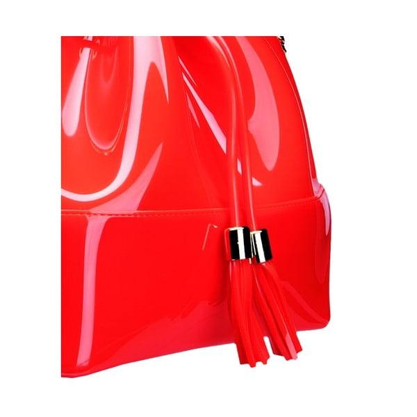 Červená plastová kabelka Kartell Grace K